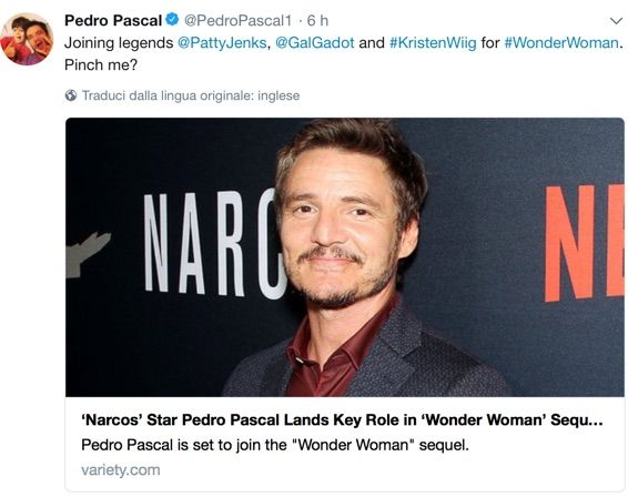 Wonder Woman: Pedro Pascal nel cast del sequel