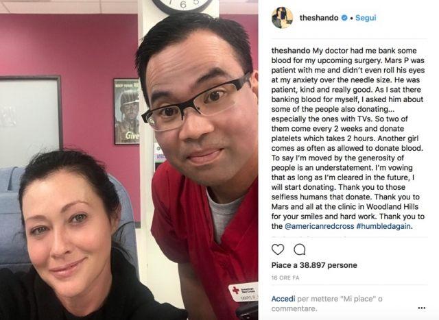 Shannen Doherty dovrà sottoporsi a un nuovo intervento chirurgico dopo il cancro