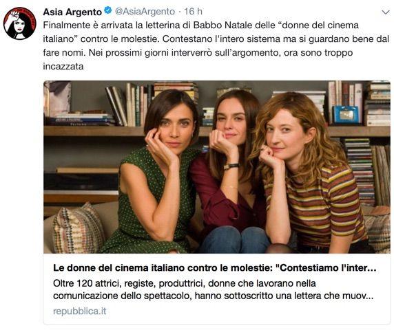 Molestie, la lettera delle attrici italiane: