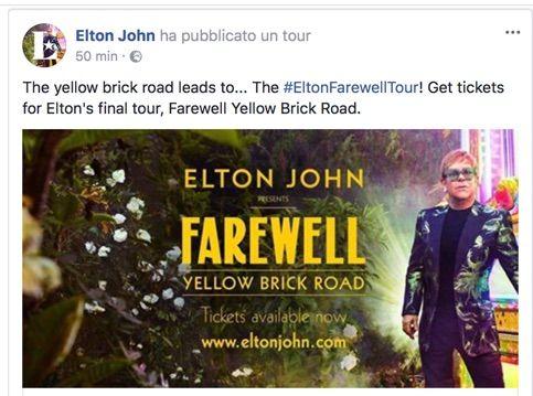 Elton John si ritira dalle scene?
