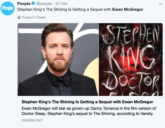 Ewan McGregor sarà il protagonista di