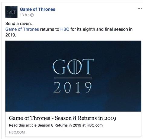 UFFICIALE: L'ottava stagione di Game of Thrones nel 2019!