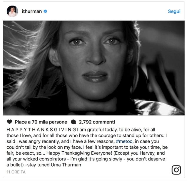 Uma Thurman come Kill Bill: