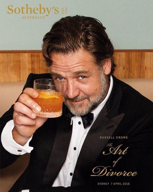 Russell Crowe racimola 3 milioni di dollari grazie all'asta del divorzio