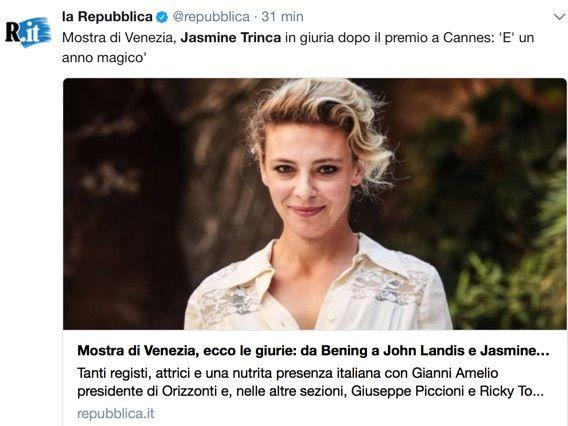 Venezia 2017, annunciati i componenti della giuria: tra loro anche Jasmine Trinca