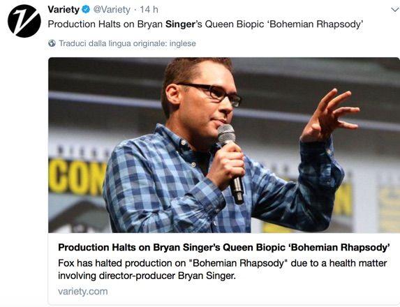 Bohemian Rhapsody - La produzione interrotta per 'problemi di salute' di Bryan Singer